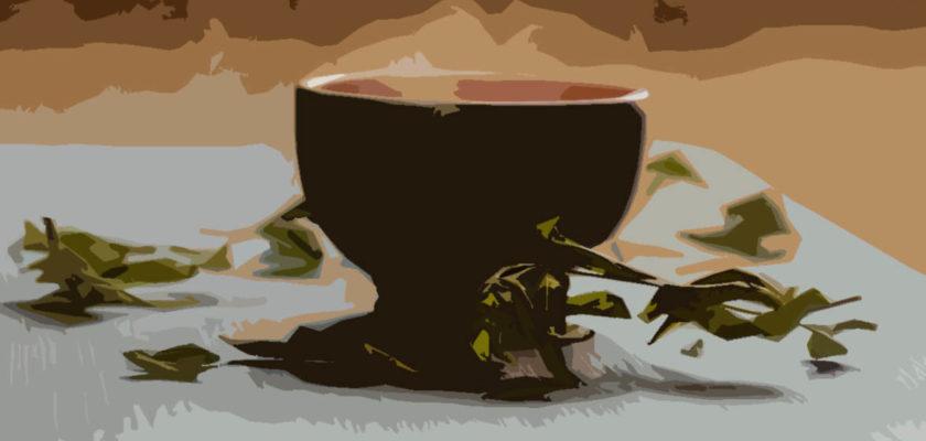 Zelený čaj šálek