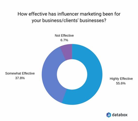 Efektivnost influencer marketingu u firmy Databox