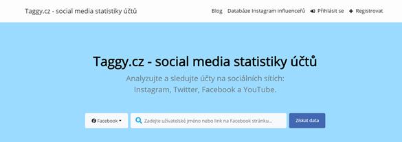 Česká onlin platforma pro získání dat z účtů na sociálních sítích
