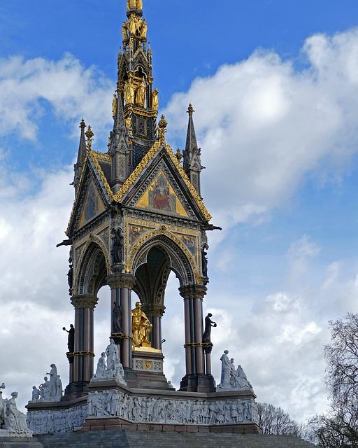 Památník prince Alberta, postaven královnou Victorii.